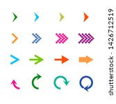 arrows isometric set. icon... | Shutterstock . vector #1426712519
