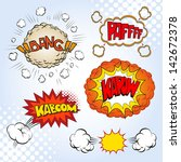 boom. comic book explosion set  ... | Shutterstock .eps vector #142672378