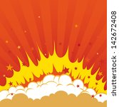 boom. comic book explosion...   Shutterstock .eps vector #142672408