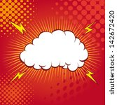 boom. comic book explosion | Shutterstock .eps vector #142672420