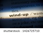 wind up word in a dictionary.... | Shutterstock . vector #1426725710