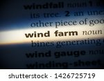 wind farm word in a dictionary. ... | Shutterstock . vector #1426725719