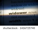 widower word in a dictionary.... | Shutterstock . vector #1426725740