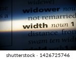 width word in a dictionary.... | Shutterstock . vector #1426725746