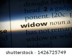 widow word in a dictionary.... | Shutterstock . vector #1426725749