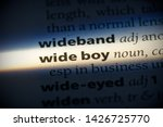 wide boy word in a dictionary.... | Shutterstock . vector #1426725770