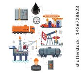 oil industry infographics with... | Shutterstock .eps vector #1426728623