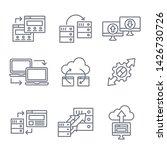 website data transfer icon set...   Shutterstock .eps vector #1426730726