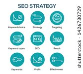 seo strategy   search engine... | Shutterstock .eps vector #1426730729