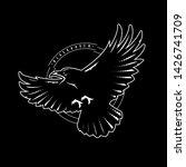black raven in flight  logo ... | Shutterstock .eps vector #1426741709