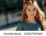 beautiful little girl with long ... | Shutterstock . vector #1426744160