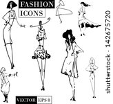 fashion icons | Shutterstock .eps vector #142675720
