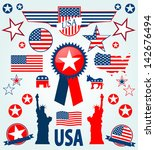 usa icons | Shutterstock .eps vector #142676494