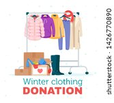 winter warm clothing donation... | Shutterstock .eps vector #1426770890