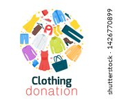clothing donation flat vector... | Shutterstock .eps vector #1426770899