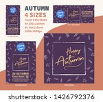 happy autum flyer dl a4 cover... | Shutterstock .eps vector #1426792376