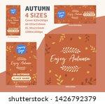 enjoy autumn flyer dl a4 cover... | Shutterstock .eps vector #1426792379