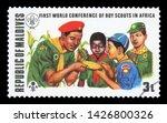maldives   circa 1973  stamp...   Shutterstock . vector #1426800326