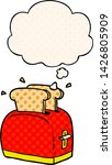 cartoon toaster with thought... | Shutterstock .eps vector #1426805909
