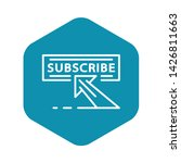 subscribe panel icon. outline...