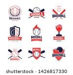 cartoon color baseball... | Shutterstock .eps vector #1426817330
