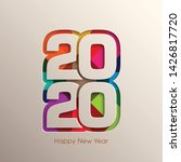 happy new year 2020 text design ... | Shutterstock .eps vector #1426817720