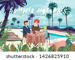 summer family happy holidays ... | Shutterstock .eps vector #1426825910