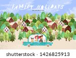 summer family happy holidays ... | Shutterstock .eps vector #1426825913