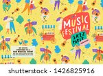 poster for a summer live music... | Shutterstock .eps vector #1426825916