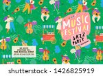poster for a summer live music... | Shutterstock .eps vector #1426825919