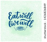 healthy food lettering for... | Shutterstock .eps vector #1426826849