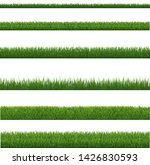 green grass border and white...   Shutterstock .eps vector #1426830593