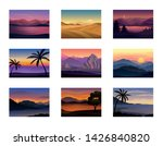set of night and evening... | Shutterstock .eps vector #1426840820