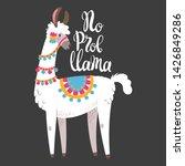 illustration with llama ... | Shutterstock .eps vector #1426849286