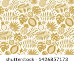 golden exotic fruits  leaves ...   Shutterstock .eps vector #1426857173