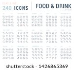 big collection of linear icons. ... | Shutterstock . vector #1426865369