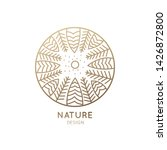 round logo of nature. linear... | Shutterstock . vector #1426872800