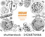 indian food illustration. hand... | Shutterstock .eps vector #1426876466