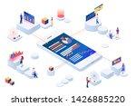 data visualization 3d isometric ... | Shutterstock .eps vector #1426885220