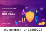 protect your business landing... | Shutterstock .eps vector #1426885223