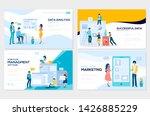 set of social media marketing ... | Shutterstock .eps vector #1426885229