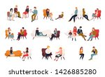 flat cartoon vector... | Shutterstock .eps vector #1426885280