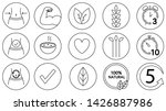 set of 15 outlined healthy... | Shutterstock .eps vector #1426887986