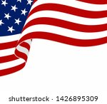 american flag on white... | Shutterstock .eps vector #1426895309