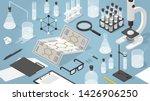 vector isometric chemical...   Shutterstock .eps vector #1426906250