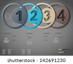 inforgraphic  1  2  3  4 | Shutterstock .eps vector #142691230
