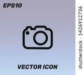 camera vector icon illustration ...