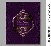 wedding invitation card with...   Shutterstock .eps vector #1426914200