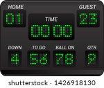 scoreboard vector score board... | Shutterstock .eps vector #1426918130
