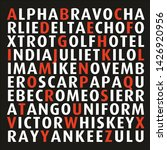 international phonetic alphabet ... | Shutterstock .eps vector #1426920956